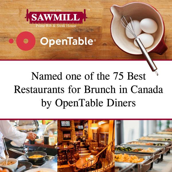Open Table Top 75 Brunch Award