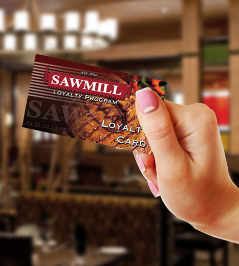 The Sawmill Restaurant Menu